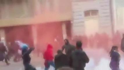 Italy: Riot police charge anti-Salvini protesters in Cagliari