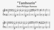 """Jean-Philippe Rameau - Tambourin"" - Piano sheet music (by Tatiana Hyusein)"