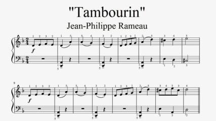 """Jean-Philippe Rameau - Tambourin"" - Piano sheet music (by Tatiana Hyusein)"