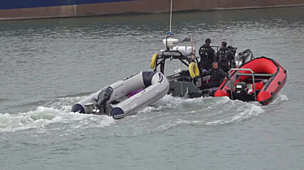 UK: Migrants brought to Dover by Border Force officers after boat intercepted in Channel