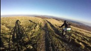Бясно спускане от връх Мургаш с колела и скорост над 50км по билото на Стара Планина 1687м.
