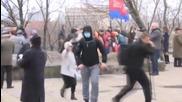 Ukraine: Masked men attack left-wing rally in Kiev