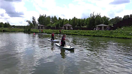 Watch four-legged SUP surfers gliding on water in Moscow region!