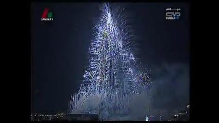 Страхотно откриване на Бурж Халифа най - високата сграда в света - 828 м.
