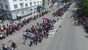 Дрон показа шествието в Украйна по случай 1 май
