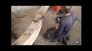 """Как да направим дървени """"пирони"""" - дюбел за нуждите на корабостроенето част 2-ра"""