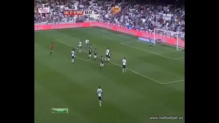23.04.2011 Валенсия 3-6 Реал Мадрид гол на Алба