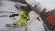 Сноуборд по улиците в Ню Йорк