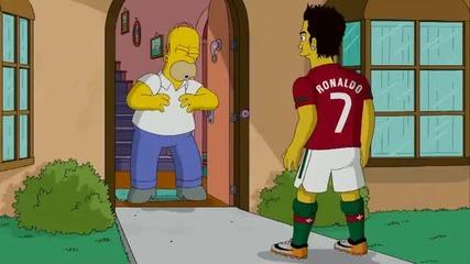 Homer vs Ronaldo
