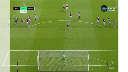Фернандеш върна Юнайтед в играта след точно изпълнена дузпа