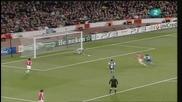 Арсенал 5:0 Порто (всички голове) 09.03.2010