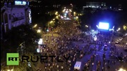Дрон снима протестите в Ереван