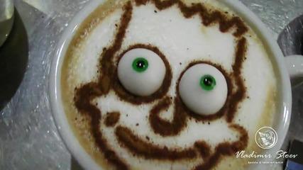 Мистър Симпсън оживявя върху кафето на Бариста Владимир Стоев :)