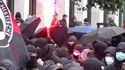 Germany: Windows smashed, firecrackers thrown at police station during left-wing demonstration