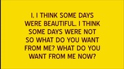 Take That - What Do You Want From Me (lyrics)