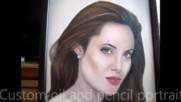 A.jolie oil portrait