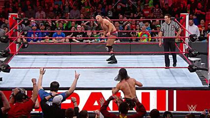 The Bar vs. Roman Reigns & Seth Rollins – Raw Tag Team Title Match: Raw, February 5, 2018 (Full Match)
