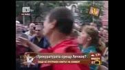 Яйца по Бтв журналист в защита на Лечков Господари на Ефира