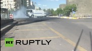 Turkey: Police unleash water cannon as Kurdish protesters march through Diyarbakir