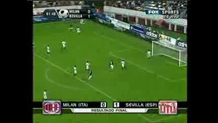 Milan 0:1 Sevilla Чудесен Автогол На Гатусо