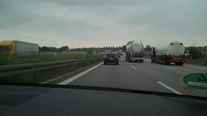 Бахти и извънземното Audi 2010 S4 on A9 Autobahn