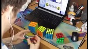 Най - Бързо редене на Кубчетата на Рубик