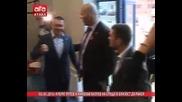Кубрат Пулев и Николай Валуев на среща в близост до ринга /03.03.2016 г./