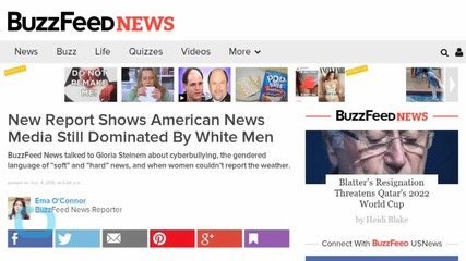 Report Shows American News Media Still Dominated By White Men