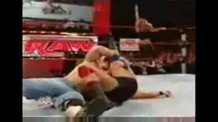 Триш Отново В Raw [trish Stratus & John Cena def. Glamerella]