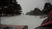 Atv разходка из снега