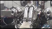 Чудовищен V16 5000 к.с. мотор не го хваща стендът Devel Sixteen V16 5000hp Engine Dyno