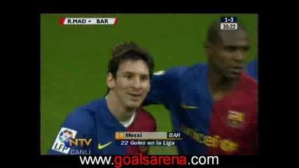 02 - 05 - 2009 - Real Madrid 2 - 6 Barcelona - Страхотен Гол На Лео Меси