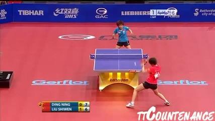 Динг – Лиу Шивен,полуфинал,2011. май.,тенис на маса,жени