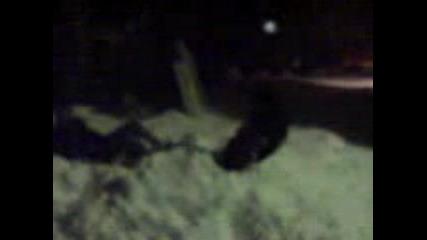 Идиоти Се Мятат От Вход Във Снега