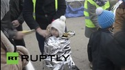 Serbia: Refugees remain stranded on Serbia-Croatia border as temperatures drop
