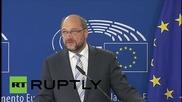 Белгия: Гърция, приеми протегнатата ръка на Европа, помощ с размер 30 милиарда евро, моли Шулц