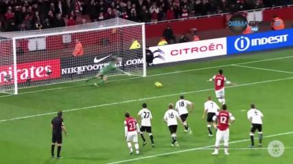 2 гола на Димитър Бербатов и пропусната дузпа от Арсенал във вълнуващо 3:3