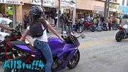 Hot Sexy Girls On Bikes - Daytona Bike Week 2016