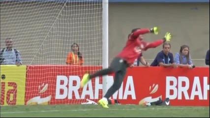 Тренировка на Бразилия преди контролата с Панама