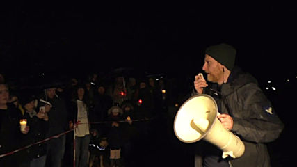 Germany: Animal rights activists hold vigil in front of LPT facility in Mienenbuttel