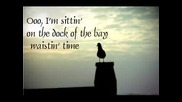 Otis Redding - Sitting On The Dock Of The Bay (lyrics)