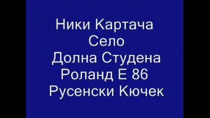 Niki karta4a selo dolna studena s roland e 86 rusenski kiu4ek