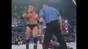 Wwe Smackdown 22.1.2004 John Cena And Chris Benoit Vs Brock Lesnar Luther Reigns And Rhyno