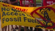 USA: Protesters against fossil fuel extraction picket the White House