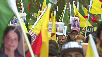 Germany: Kurdish activists march for Rojava amid Turkey's ceasefire