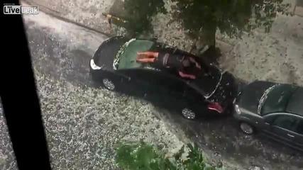 Как да защитим колата си от градушка