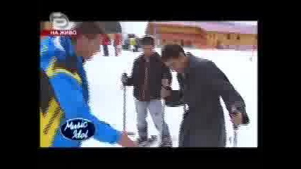 Music Idol 3 Марин и Мустафа на ски