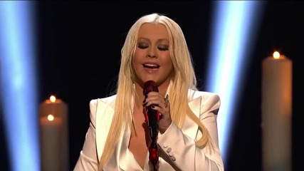 !превод! Christina Aguilera - Blank Page( на живо People's Choice Awards)