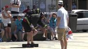 Spain: Axes and hoses fly as Euro Police and Fire Games kick off in Huelva