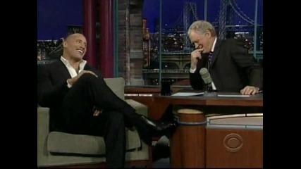 Скалата Дуейн Джонсън в Късното Шоу с Дейвид Летерман 2 част // Rock on Late Show with D. Letterman